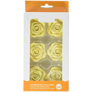 rose grandi color giallo decorazione torte