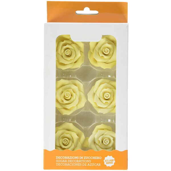 rose grandi color giallo decorazione torte