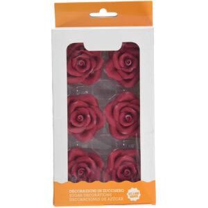 rose grandi color rosso decorazione torte